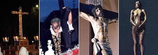 Lignum Crucis; Nuestro Padre Jesús Nazareno; Cristo de la Agonía y Cristo del Santo Sepulcro, los cuatro pasos restaurados en 2008.
