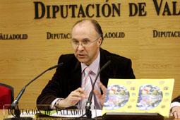El presidente de la Diputación de Valladolid, Ramiro Ruiz Medrano, durante la presentación del programa Provincia Abierta 2008, el pasado miércoles.