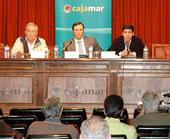 Alberto Cano, Máximo Gómez y Lino Rodríguez ayer, durante la presentación