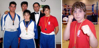 A la izquierda, participantes en el Campeonato de Castilla y León. A la derecha la campeona, Lorena Alonso